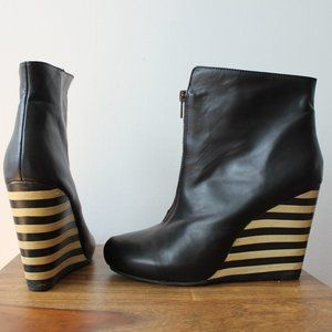 Lola Ramona Wedge Black Booties